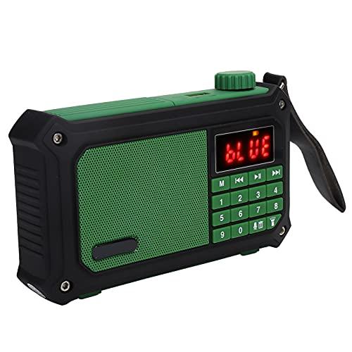 Radio FM digital portátil, Reproductor de audio de música con altavoz Bluetooth inalámbrico multifuncional para exteriores, Función de memoria de apagado, con cable USB, para música de fiesta en casa,