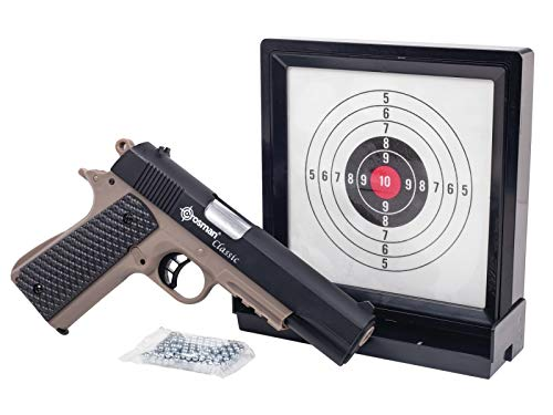 Crosman S1911KT Classic 1911 Spring Powered Air Pistol Kit With Sticky Target And 250 BBs