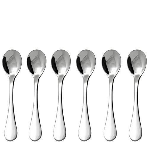 IMEEA/® Cuill/ère /à Soupe en Acier Inoxydable 18//10 avec Long Manche 28 cm