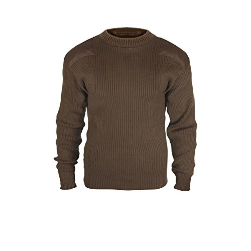 Rothco Acrylic Commando Sweater, Brown, Medium