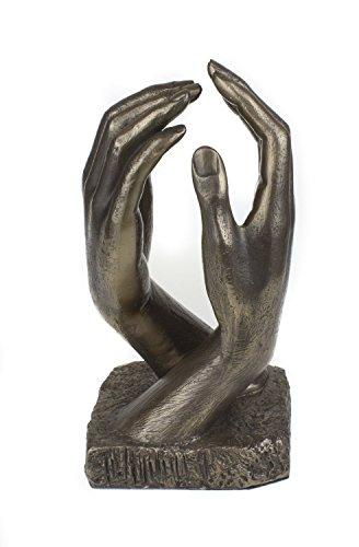 Bronze Sculptures Sculpture en bronze coulé à froid Mains romantiques inspirée par La Cathédrale du célèbre sculpteur Auguste Rodin, un cadeau idéal pour un mariage ou un cadeau d'anniversaire de bronze