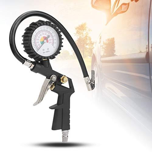 Liujaos Medidor de presión de neumáticos, Herramienta Manual pequeña para carros para vagones para automóviles para Bicicletas