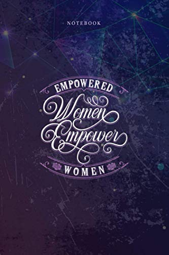 Lined Notebook Journal Empowered Women Empower Women Vintage: 6x9 inch, Happy, Budget, Budget Tracker, Over 100 Pages, Planner, Homework, Mom