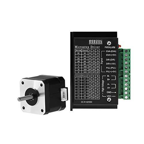 certylu 42 Motor 1.5A 17HS4401S con el Controlador del Motor Paso a Paso TB6600 NEMA17 23 para CNC y Impresora 3D
