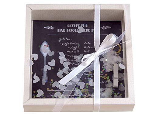 ZauberDeko Geldgeschenk Verpackung Hochzeit Gutschein Hochzeitsgeschenk Brautpaar Rezept für eine glückliche Ehe