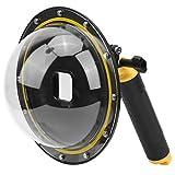 214 Cubierta de Lente de Puerto de Domo, 30 m bajo el Agua Vista de 180 Grados Fisheye Sphere Diving Face Shield Cover, Carcasa Impermeable IP68, para Gopro para cámaras Deportivas Hero 9