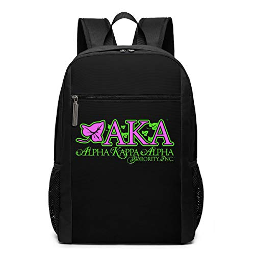 AKA Sor-ority Multi-Functional Travel Laptop Backpack For Women & Men,Durable Casual College Daypack School Bookbag Business Computer Bag-17inch