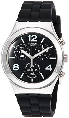 Swatch Reloj Cronógrafo para Hombre de Cuarzo con Correa en Silicona YCS116