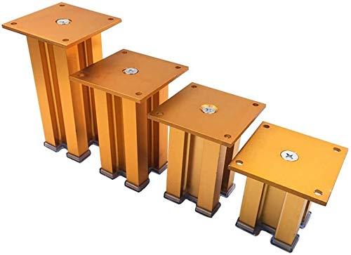LYQQQQ 4Pcs Metallmöbel Beine, Sofa Stützfüße, DIY TV Kaffeetisch Schränke verdickte Replacement Feet (Color : Gold, Size : 6cm(2.4in))