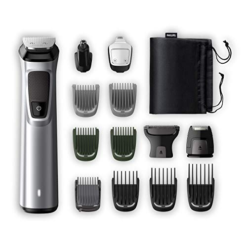 Philips MG7720/18 - Multigroom serie 7000, Kit Multifunzione Rifinitore premiun 14 in 1, Barba, Capelli e Corpo