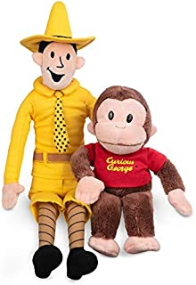 GUND Plush Stuffed Doll The Man with The Yellow Hat and Curious George Bundle | Big, Soft, Hugging Toy for Babies, Children, Toddler Boys & Girls Exclusively Licensed Merchandise