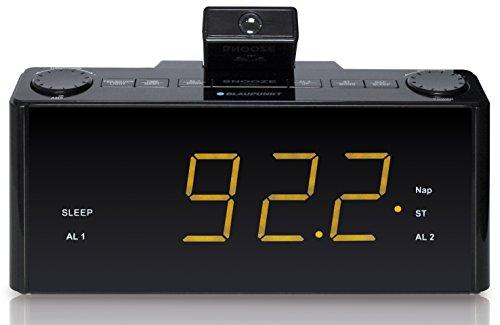 Blaupunkt CLR-P 1800 Radio Wecker Projektion, Projektionswecker, Radiowecker UKW PLL mit RDS, Dual-Alarm, Nap-Timer, Tischuhr, Projektionsuhr, Funkuhr, Automatischer Senderspeicher, schwarz