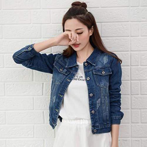 NZJK Jeansjas voor lente, herfst, wit, zwart, jeansjack, vrouwelijk, lange mouwen, jeansjas voor dames