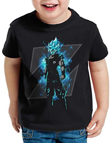 style3 Son-Goku Z Blue T-Shirt für Kinder Modus Evolution Saiyajin Dragon, Größe:128