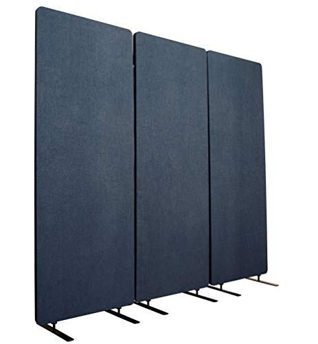S Stand Up Desk Store ReFocus Akustik-Raumteiler - Büro-Trennwände (Midnight Blue, 183 cm x 167.5cm)