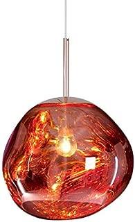 CLFINE Tom Dixon PVC Pendant Lamp, Lava Melt Crystal Ceiling Light Postmodern Hanging Lamping (Red)