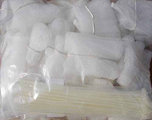 Price comparison product image Lot of 50 Washing Machine Lint Trap Snare Fabric mesh with ties