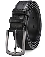 Mens Belts Leather Big and Tall Dress Belts for Men Brown Black Tan Boys Belt 1.25 inch Width COOLERFIRE 37