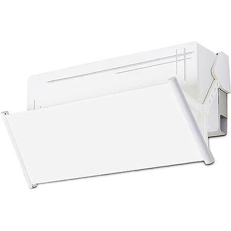 Deflettore condizionatore & Aria condizionata Vento deflettore,180 gradi regolabile e lunghezza liberamente estensibile (White)