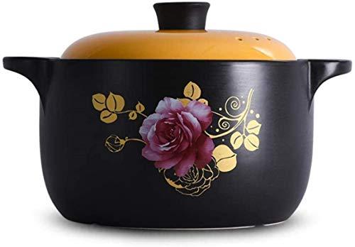 XY-M Casserole Pot Stef Stew Pot Casserole Caserole - Resistencia a Alta Temperatura Buena Pan de Estabilidad térmica Pan fáciles de Limpiar 4.5L_S