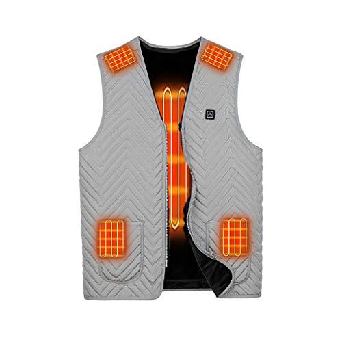 Skxinn Unisex Winter Warme USB Kleidung im Freien, beheizt zum Skifahren, Angeln, Aufladen über beheizten Mantel