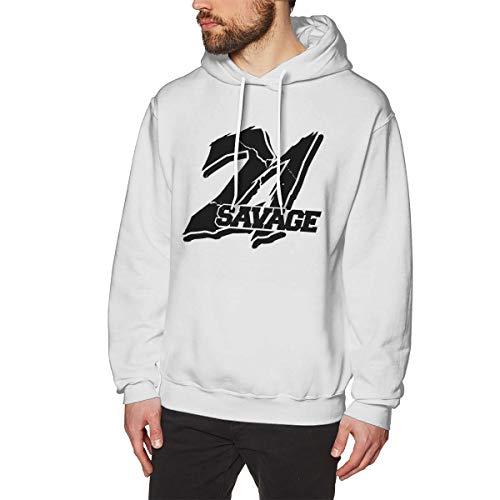 21 Savage Logo Slaughter Gang I Feel Like Pablo Hoodie Mens Hooded Sweatshirt Adult White