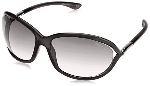 Tom Ford Damen FT0008 199 61 Sonnenbrille, Schwarz (Nero Lucido/Fumo)