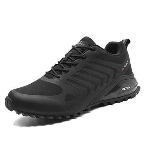 Dannto Sportschuhe Laufschuhe Herren Turnschuhe Straßenlaufschuhe Atmungsaktiv Gym Sneakers(schwarz,46)