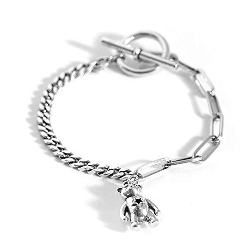 GD&HH Damen Halskette Smiley Silber Ketten Für Hochzeit Damenkette Kettenanhänger Frauen Strass Kristall Halskette Geschenk Kette Schmuck Anhänger/ 925 Armband