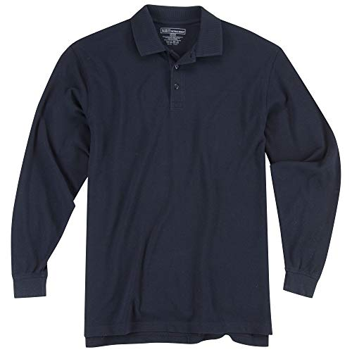 5.11 Tactical # 42056t Manches Longues Haut Professional Polo, Homme Femme, 5-42056T-724-Dark Navy-5XL-, Bleu Marine, XXXXXL