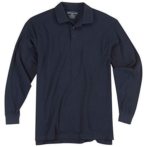 5.11 Herren Poloshirt Tactical Long Sleeve Tall Professional Style 42056T, Herren Damen, 5-42056T-724-Dark Navy-XXL-, Dunkles Marineblau, XXL