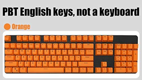 Inglés / PBT Languag KeyCaps opciones de color clave rusos Variedad pasa clave cereza MX teclado mecánico Cap 104,naranja, PBT Inglés