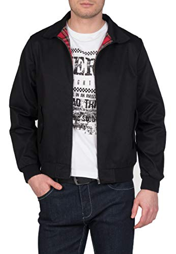 Merc of London Herren HARRINGTON,Jacket Jacke, Schwarz (Black), X-Large (Herstellergröße: XL)