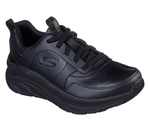 Skechers Women's Lace up Athletic Styling Health Care Professional Shoe, 9.5 Wide Black