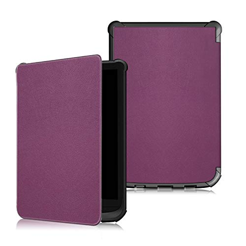 "VOVIPO Funda Compatible con Pocketbook Touch HD 3/Touch Lux 4/Basic Lux 2/Reader Color (2020) e-Book de 6""- Súper Delgada y Ligera Carcasa con Auto-Reposo/Activación"