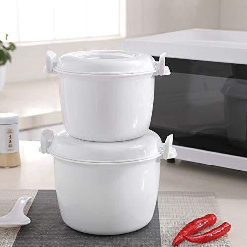 XJJZS Horno de microondas portátil Multifuncional Arrocera Vapor Aislamiento Térmico Caja de Almuerzo de Bento de la categoría alimenticia PP al Vapor Utensilios (Color : S)