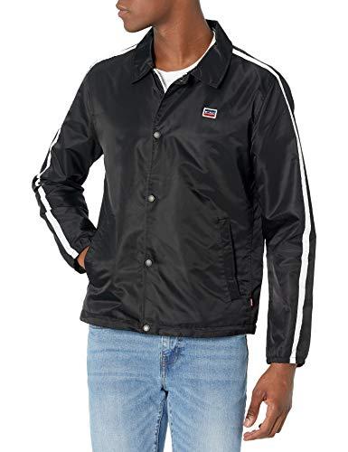 Levi's Men's Retro Coaches Jacket, Black, X-Large