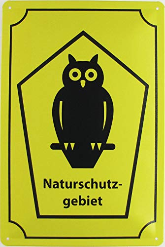 Blechschild 20x30cm gewölbt Naturschutzgebiet Warnschild Deko Geschenk Schild