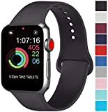 AK Compatible Apple Watch Bracelet 42mm 38mm 44mm 40mm, Bracelet de Sport en Silicone...