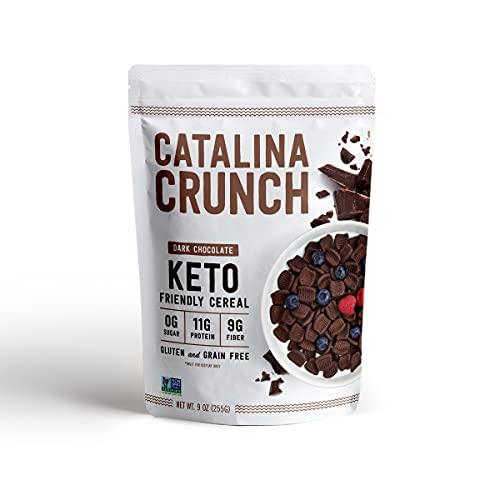 Catalina Crunch Dark Chocolate Keto Cereal (9oz Bags) | Low Carb,...