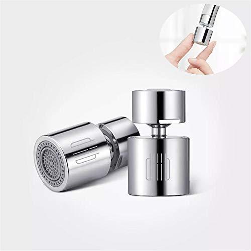 Yusell Küchen Wasserhahn Einsparung Filter 360 Grad Doppelfunktion 2-Flow Spritzfest
