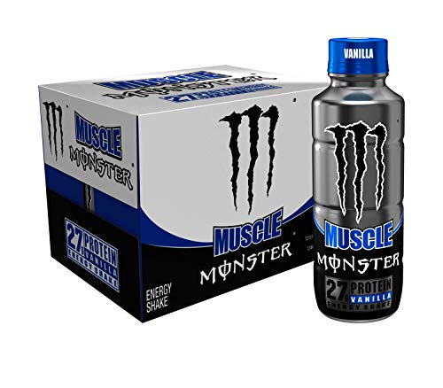 Muscle Monster Vanilla Energy Shake Protein  Energy Drink 15 ounce Pack of 12