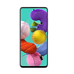 Samsung Galaxy A51 Factory Unlocked Cell Phone | 128GB of Storage | Long Lasting Battery | Single SIM | GSM or CDMA Compatible | US Version | Black