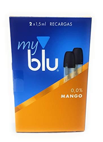 2 Recargas My Blu sabor Mango 0,0% nicotina - 1 paquete de 2 recargas