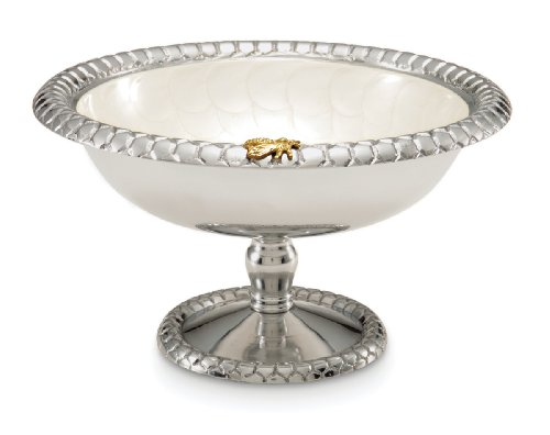 Julia Knight Queen Bee Compote, 9.75-Inch, Snow, White