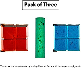 Haksons Plastic Pigments for Epoxy Resin 30 gm (Red, Green and Blue) -Pack of 3