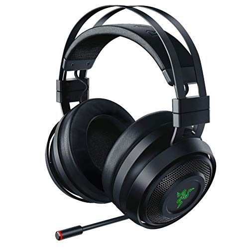 Razer RZ04-02680100-R3U1 Nari Wireless 7.1 Surround Sound Gaming Headset: THX Audio - Auto-Adjust Headband & Swivel Cups - Chroma RGB - Retractable Mic - for PC, PS4 - Black