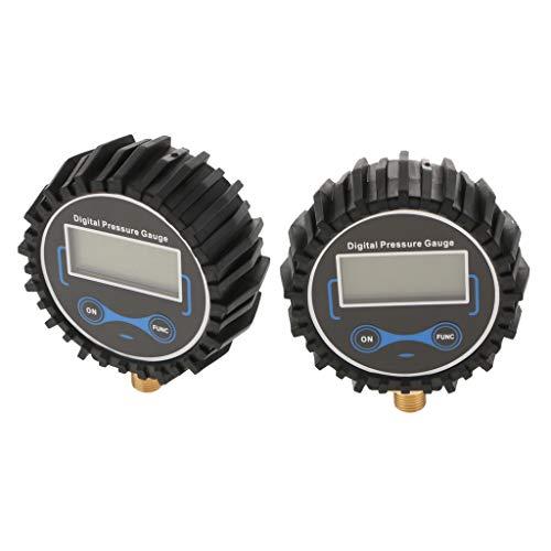 B Blesiya Herramienta de Compresores de Aire de Medidor de Presión de Neumáticos Digitales de Motocicleta de Coche Nuevo de 2 Piezas