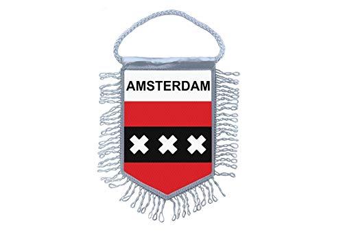 Akachafactory Mini banner vlag pennant venster spiegel auto's land banner amsterdam