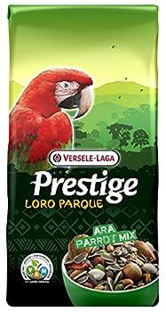 VERSELE-LAGA - Prestige Loro Parque Ara Parrot Mix - Mélange de Graines Enrichi, Complet et Varié pour Perroquets Aras - 15kg